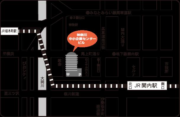 神奈川中小企業センタービルのイラスト地図